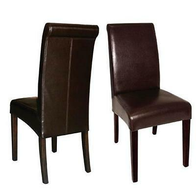 2 x Curved Back Leather Chair, Dark Brown, Restaurant / Hotel Seating