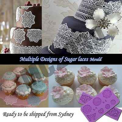 Lace Silicone Mould Sugar Craft Fondant Mat Cake Decorating Tool Pastry Cutter