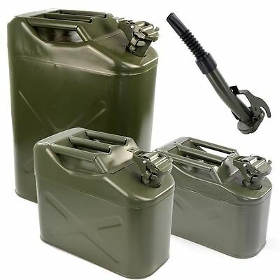 Metal Jerry Can Fuel Petrol Diesel Water Oil Military Storage Containers Spout
