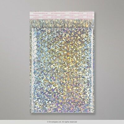 Shiny Metallic Holographic Padded Bubble Envelopes Bags Various Sizes
