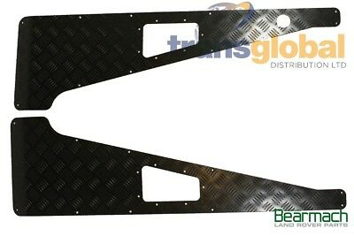 Land Rover Defender PUMA '07 On Black 3mm Chequer Plate Wing Tops - Bearmach