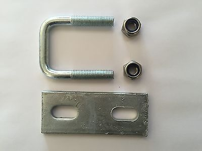 Slotted Hole Plate Square U-bolt U Bolt Boat Trailer 40mm 50mm 60mm M10 M12