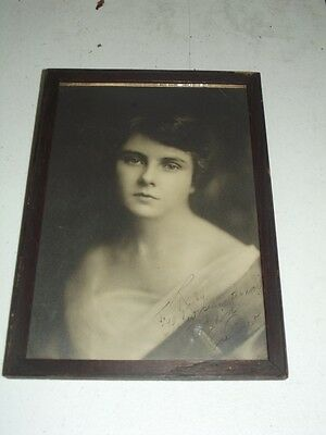 Vintage FRAMED PHOTO OF A YOUNG WOMAN - SIGNED ROSE PARKER
