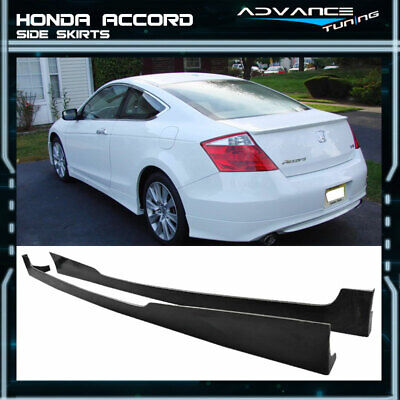 For 08-10 Honda Accord Coupe 2Door Side Skirts Lip PU Urethane