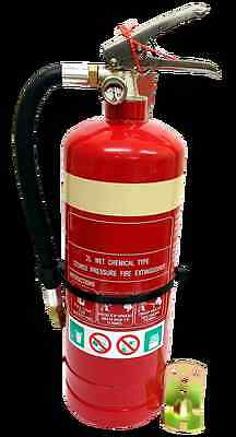 New 2L Wet Chemical Fire Extinguisher   Safety Equipment