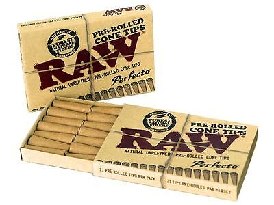 4X Raw Natural Unrefined Perfecto Pre-Rolled Cone Tips 21 Per Pack