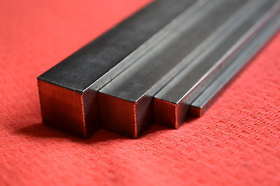 Metric Imperial Bright Mild Steel Square Bar 1/8 3/16 1/4 5/16 3/8 1/2 5/8 3/4