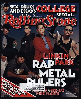 2002 LINKIN PARK - Vintage ROLLING STONE Magazine *COVER ONLY*