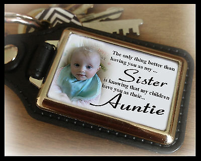 Personalised keyring, Sister, Auntie, unique birthday or christmas present