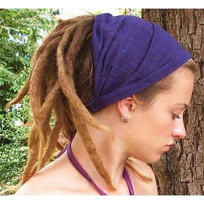 Single wrap Stripe Dread Head Band/Hair Wrap/ Dreads Rasta/ Hippy/ Festival
