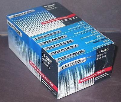 Lot of 10 Certron D90 High Performance Dictation Cassettes ~ Free Shipping
