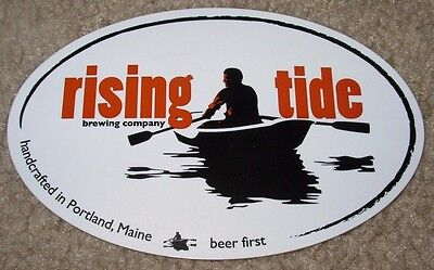RISING TIDE portland maine cutter o METAL TACKER SIGN craft beer brewery brewing