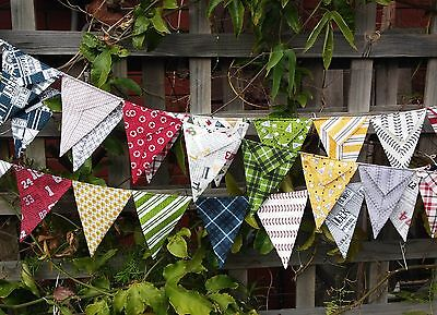 Handmade bunting - Varsity by Sweetwater - football colours, sports, photo prop