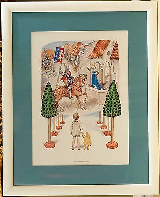 Winnie the Pooh and Friends Framed Prints (a SET of 4) Christopher Robin, Eeyore