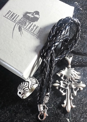 Final Fantasy VIII Squall Necklace & Ring FF8 XV Cosplay Kingdom Hearts Anime