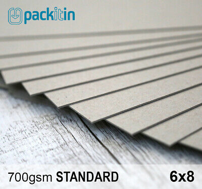 "6x8"" Backing Boards - 100 sheets 700gsm - chipboard boxboard cardboard recycled"