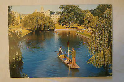 The Backs - Cambridge - England - Collectable - Vintage Postcard.