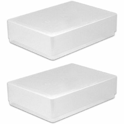 2 X A5 Clear Plastic Paper Storage Box Holder Envelope Craft Leaflet Boxes New