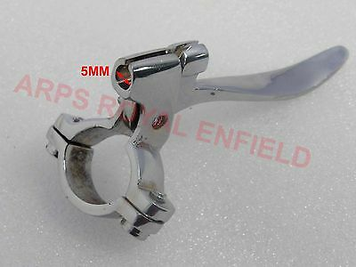 Royal Enfield Rare Pure Chrome  Left Hand Decompressor Lever For 7/8'' Handlebar