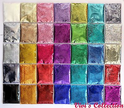 10g 100g Finest Glitter Dust Powder Packs Bag 1/128 Nail Art Decoration / Crafts