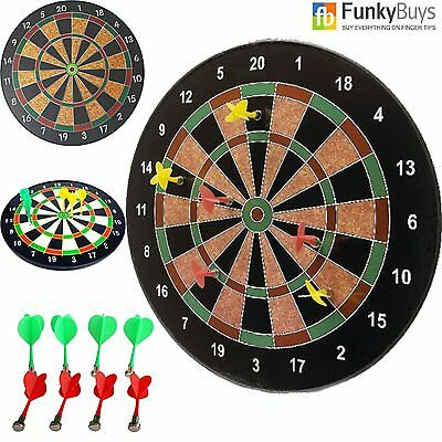 """NEW 18"""" Magnetic Dart Board Dartboard 6 Darts Party Game Play Set Best Deal Sale"""