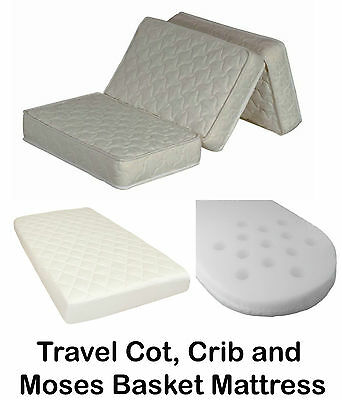 Breathable Quilted Perforated Baby Travel Cot Crib Moses Basket Mattresses