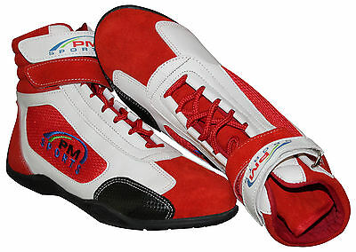 Kids/junior Karting /Race/Rally Boots with 100% Leather Suede & artificial Mix