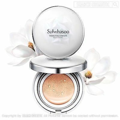 Sulwhasoo Perfecting Cushion Brightening 15g + Refill 15g, SPF50+,PA+++, 3Colors