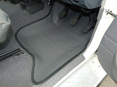 To suit Toyota Landcruiser 78 / 79 Series Floor Mats front pair 3D Rubber Vinyl