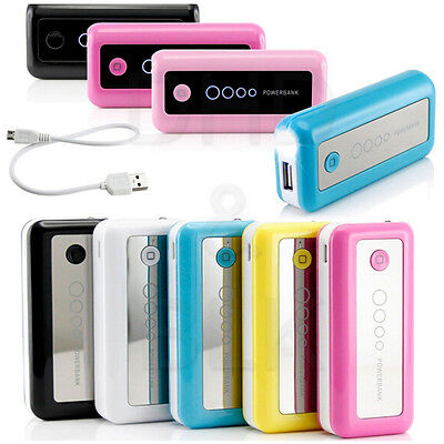 External Travel Battery Charger 5600mAh Power Bank For Cell Phones iPhone iPad