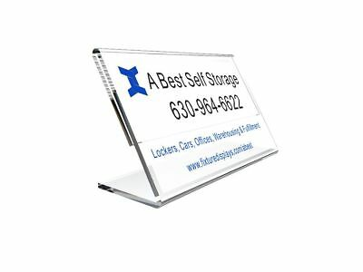 Acrylic Sign Holder Picture Photo Holder Poster Frame with Business Card Pocket
