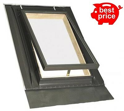 New Access Escape Roof Window 46cm x 75cm Loft Exit roof light with Flashing Kit
