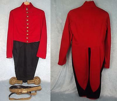 Victorian Military Attache Dress Tails Tunic & Sword Belt