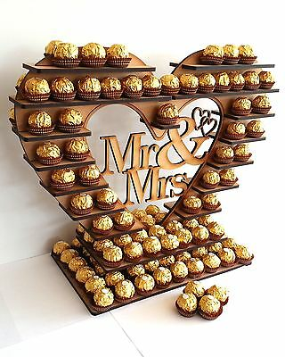 Ferrero Rocher Heart Tree, With Removable Centre, Many Variations holds 180
