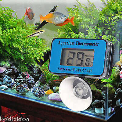 LCD  Waterproof Fish Tank Water Submersible Aquarium Thermometer
