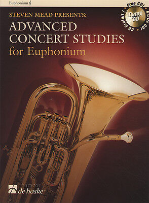Advanced Concert Studies for Euphonium Treble Clef Sheet Music Book/CD