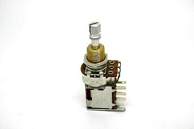 Audio/log 500K Push-Push Potentiometer Short Shaft 3/8 Inch - Made In Usa!