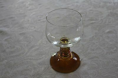 German Wine Glass with Etched Grapevine Pattern