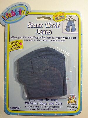 Webkinz Stone Wash Jeans w/Feature Code  **NEW**