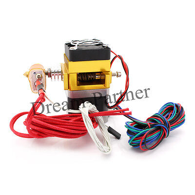 12V 0.4mm Nozzle 100K Thermistor Extruder MK9 For 1.75mm Filamnet 3D Printer