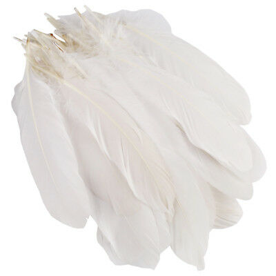 100pc White Beautiful Large Goose Feathers 6-8 inches /15cm to 20cm High Quality