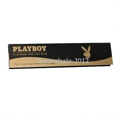 5 piece Gold Playboy KING SIZE 5 X33 sheets Cigarette Tobacco Rolling