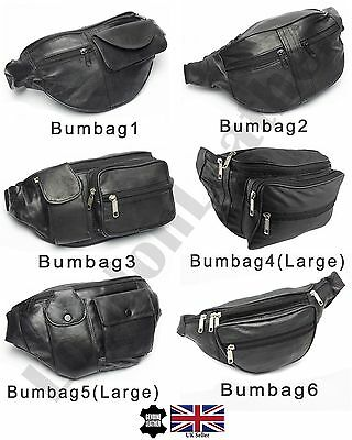 Large Real Leather Bum Waist Bag Travel Holiday Money Belt Pouch Change Bumbag