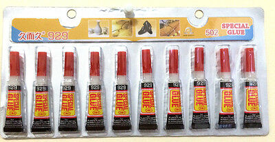 10 Tubes of  Super Glue - 'Cyanoacrylate Adhesive'  FREE SHIPPING USA SELLER