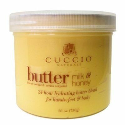 CUCCIO BUTTER BLEND HONEY & MILK MASSAGE CREAM for HANDS, FEET AND BODY 26oz