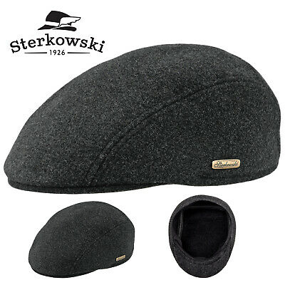 9b0945bd Sterkowski 'IKE' Wool Blend Winter Flat Cap Ivy League Gatsby Vintage  Oldschool