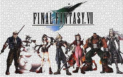 FF7 Final Fantasy 7 Jigsaw Puzzle Games JP Cloud Wall Home Decorations 1000Pcs