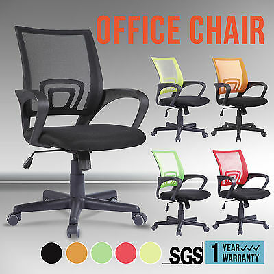 High Back Mesh Executive Swivel Office Chair 5 Colours Computer Desk Furniture