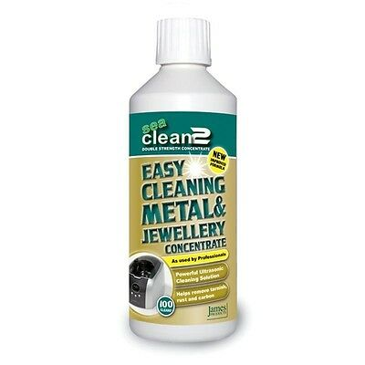 Sea Clean 2 Ultrasonic Cleaner Cleaning Fluid Solution Jewellery Metal - 1 Litre