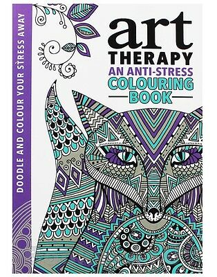 Adult Colouring Book Art Therapy Stress Anxiety Relief Anti-Stress